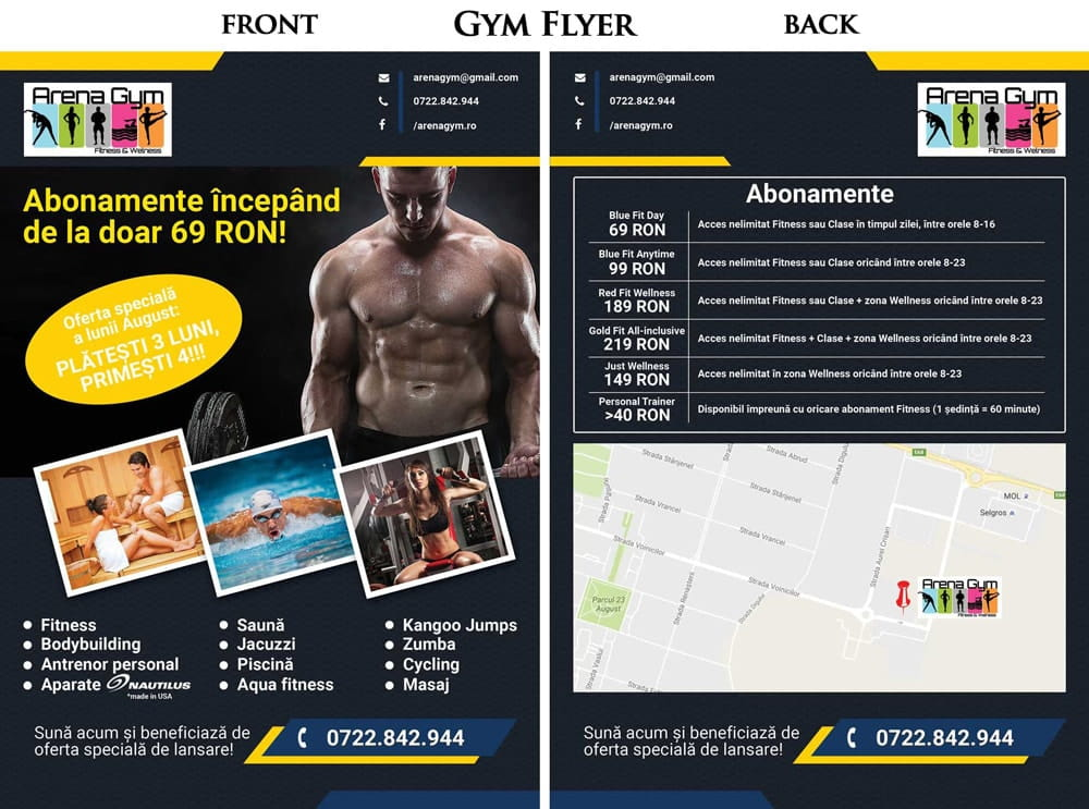 Flyer - Arena Gym